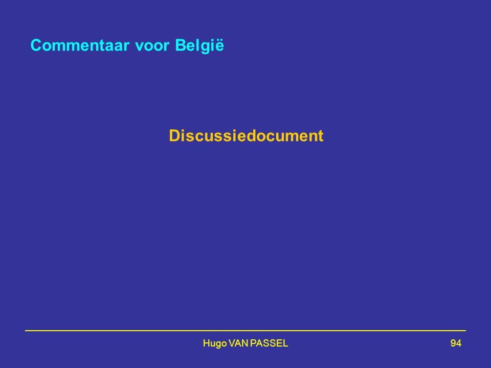Hugo VAN PASSEL94 Commentaar voor België Discussiedocument