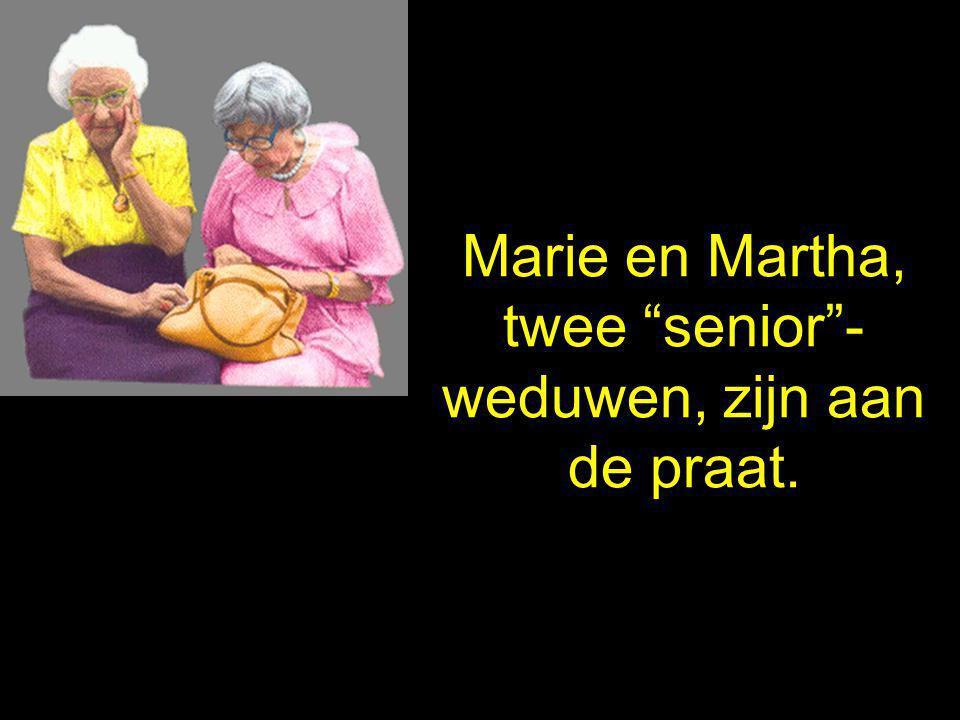 Marie en Martha, twee senior - weduwen, zijn aan de praat.
