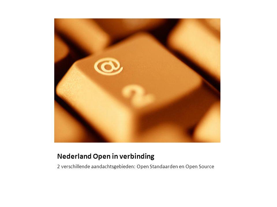 Implicaties actieplan Geen (?!) Open Standaarden Microsoft mapped producten en oplossingen op de lijst ODF Microsoft Office ondersteunt het gebruik van ODF Open Source Bij gelijke geschiktheid de voorkeur Overleg met Microsoft Nederland
