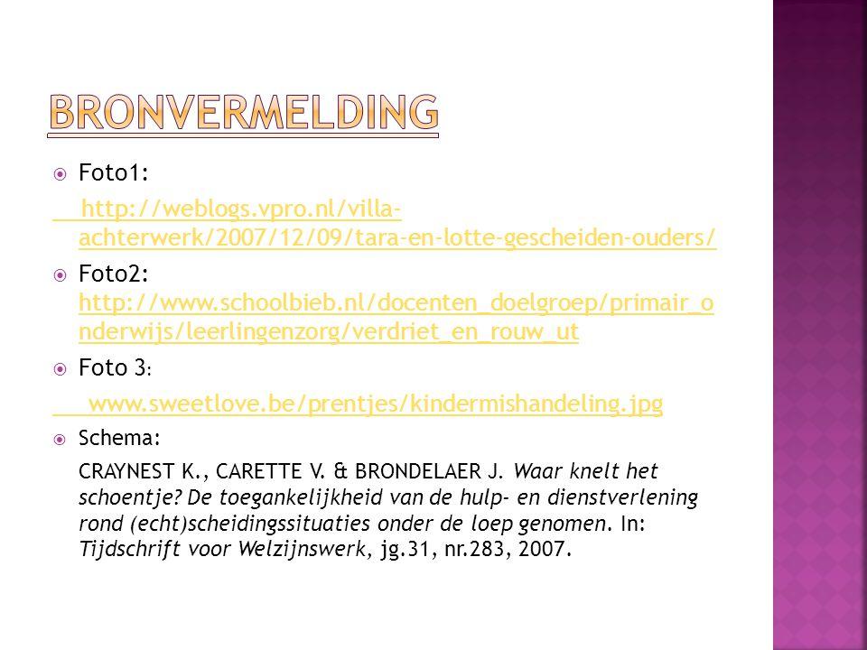  Foto1: http://weblogs.vpro.nl/villa- achterwerk/2007/12/09/tara-en-lotte-gescheiden-ouders/  Foto2: http://www.schoolbieb.nl/docenten_doelgroep/pri
