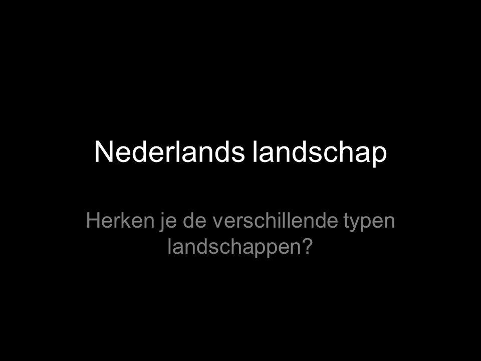 Nederlands landschap Herken je de verschillende typen landschappen?