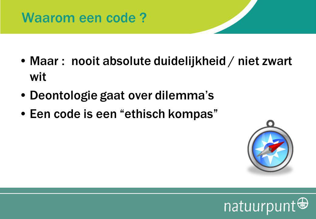 Waarom een code .