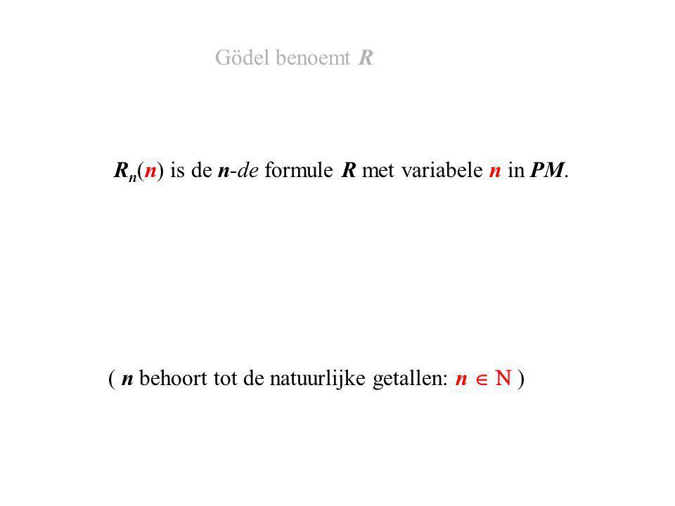 S(q)  R q (q) En S(q) is identiek met R q (q), in formule: Gödel benoemt S en R q