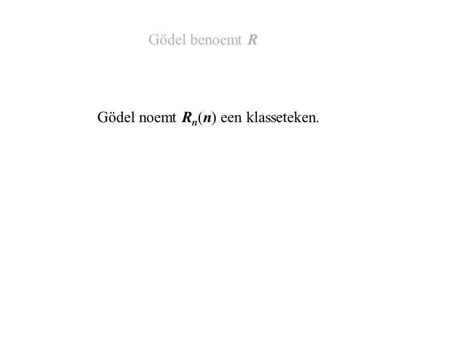 De propositie R q (q) is onbeslisbaar in PM. Gödels stelling (Een propositie is een bewering)