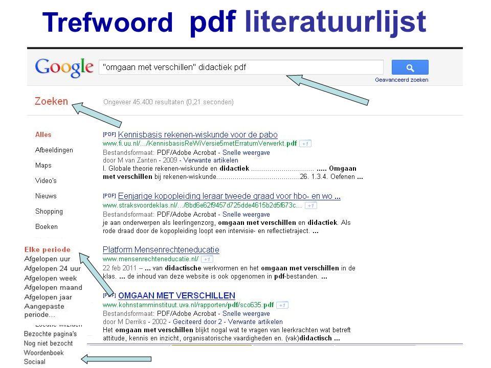 Trefwoord pdf literatuurlijst