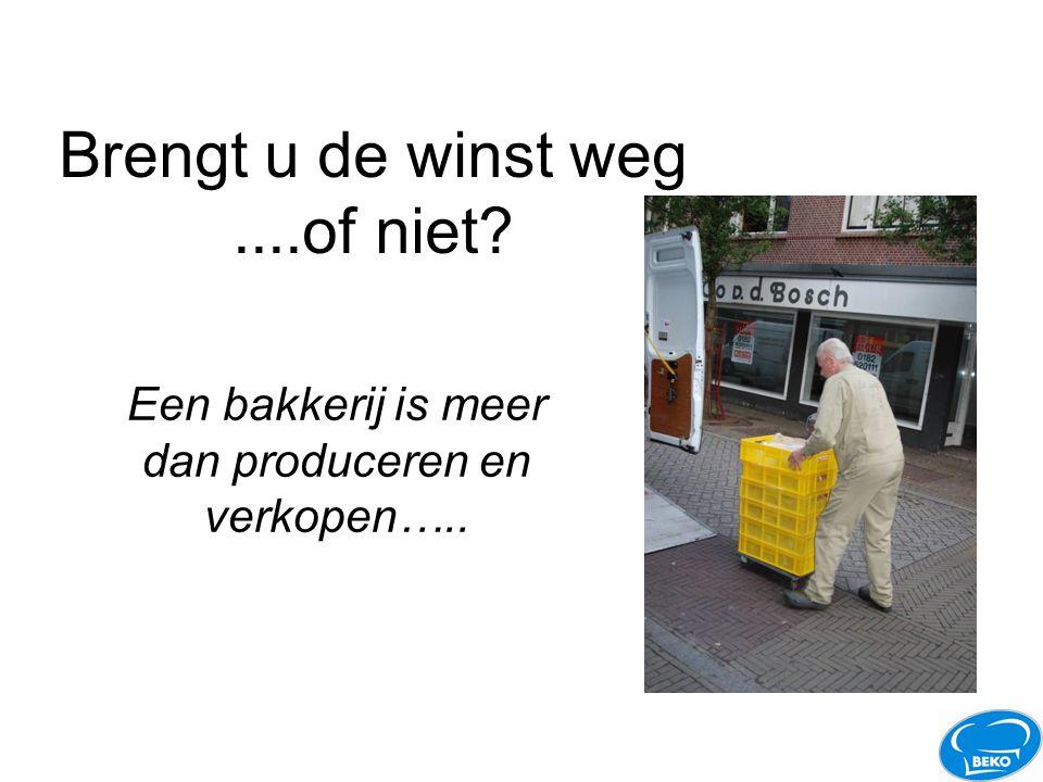 Brengt u de winst weg....of niet? Een bakkerij is meer dan produceren en verkopen…..