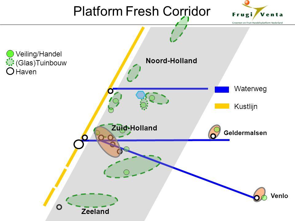 Veiling/Handel (Glas)Tuinbouw Haven Venlo Noord-Holland Zuid-Holland Zeeland Waterweg Kustlijn Platform Fresh Corridor Geldermalsen