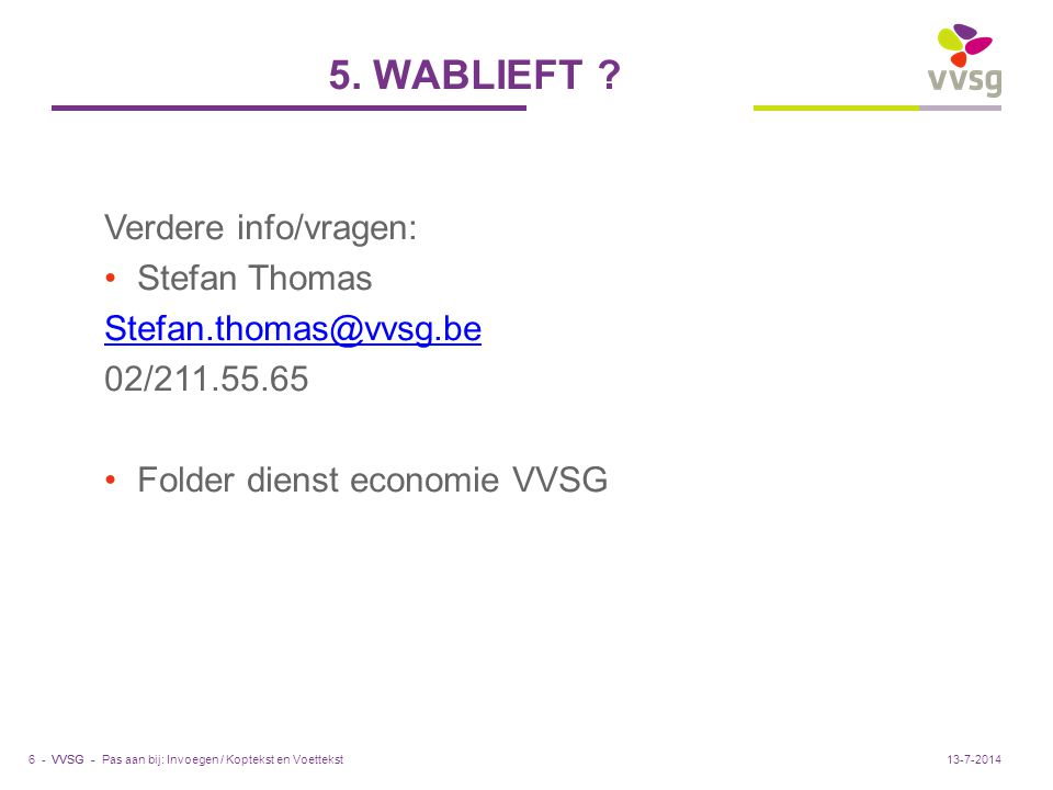 VVSG - 5. WABLIEFT .