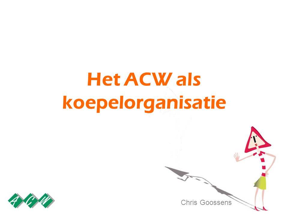 Het ACW als koepelorganisatie Chris Goossens