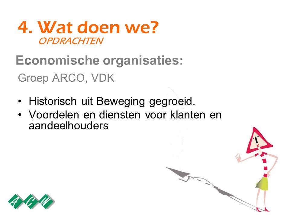 4. Wat doen we. Groep ARCO, VDK Historisch uit Beweging gegroeid.
