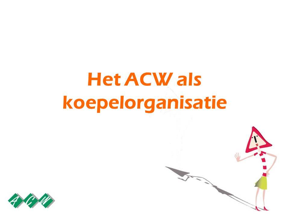 Het ACW als koepelorganisatie