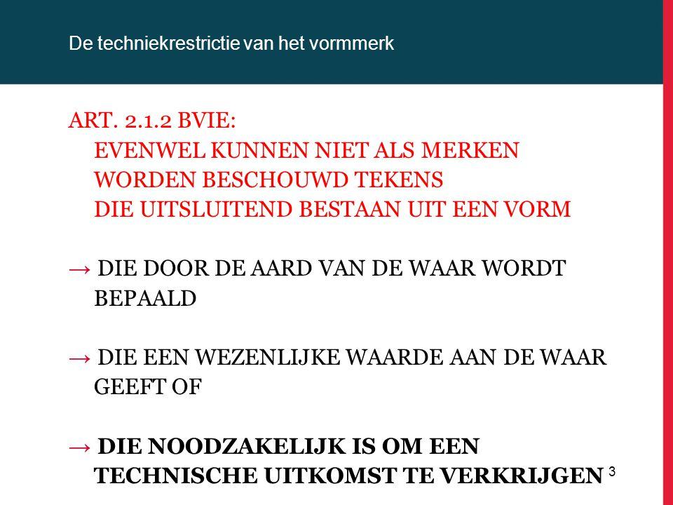 De techniekrestrictie van het vormmerk RECHTSPRAAK POST PHILIPS/REMINGTON Rechtbank Den Bosch 18-4-2007 (Remington/Philips): Merken worden nietig verklaard: bij de wezenlijke functionele kenmerken, nl.
