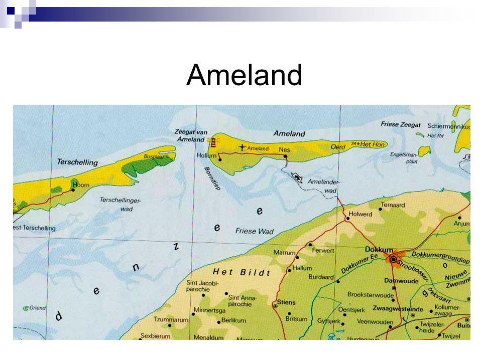 Geografische werkwijzen gebruiken Wat is Ameland, waar ligt Ameland.