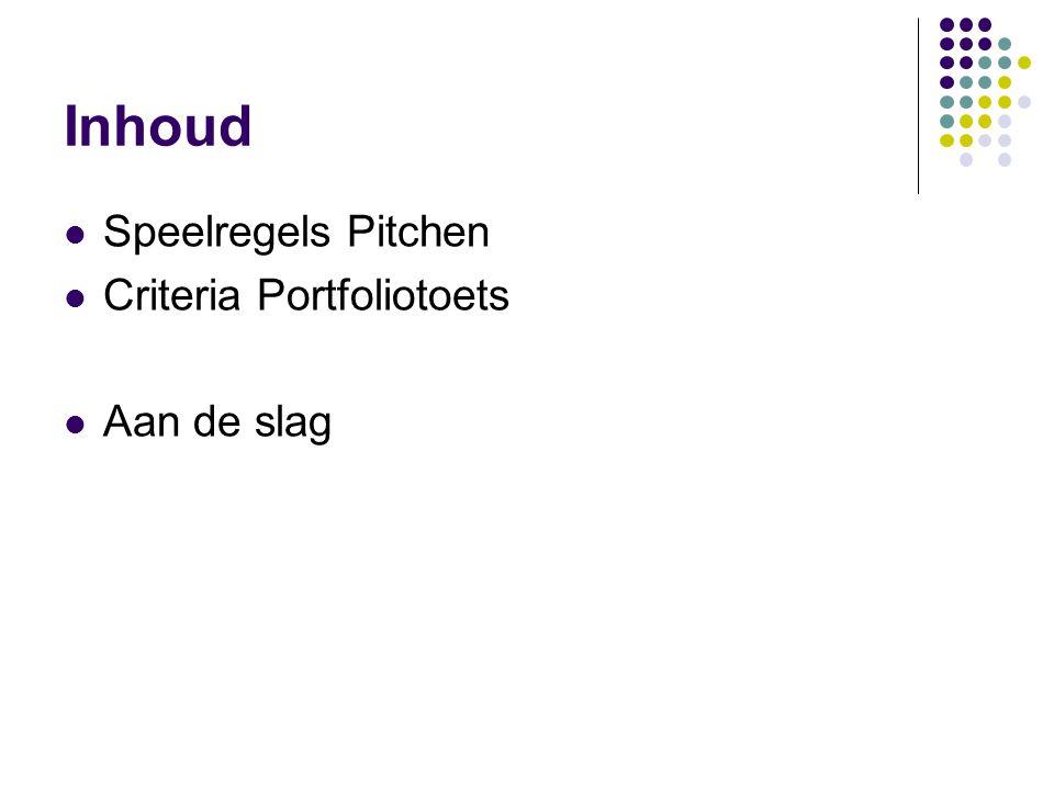 Pitch Elevator pitch (bron:carrieretijger.nl) Een elevator pitch is een korte presentatie waarin je enthousiast vertelt wie je bent en waar je goed in bent.