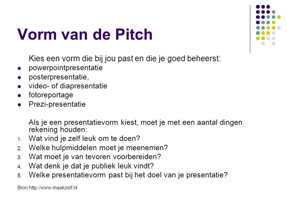 Criteria PFT De student kan zich op korte en krachtige wijze introduceren (wie ben ik, wat kan ik, wat wil ik…) bij 'de jury'.