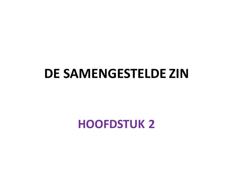 DE SAMENGESTELDE ZIN HOOFDSTUK 2
