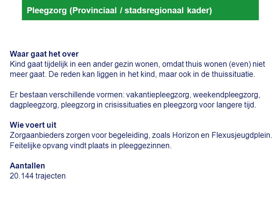 Crisishulp (Provinciaal kader / stadsregionaal kader) Waar gaat het over Hulp in acute situaties.