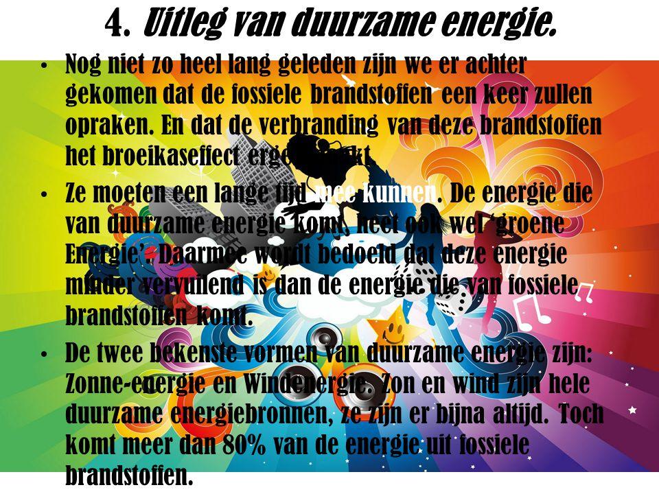 5.Uitleg van de alternatieve energiebronnen. Zonne-energie.