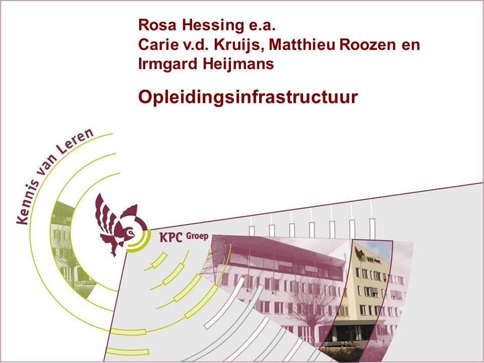 Opleidingsinfrastructuur Rosa Hessing e.a. Carie v.d. Kruijs, Matthieu Roozen en Irmgard Heijmans