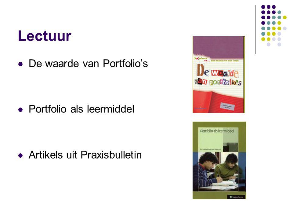 Lectuur De waarde van Portfolio's Portfolio als leermiddel Artikels uit Praxisbulletin