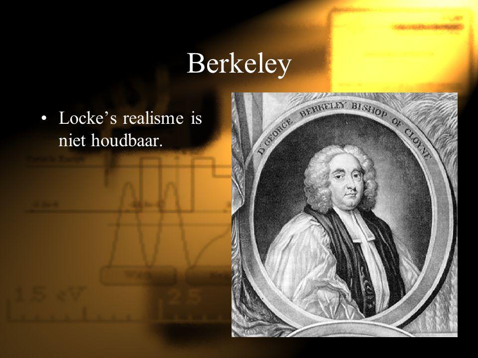 Berkeley Locke's realisme is niet houdbaar.