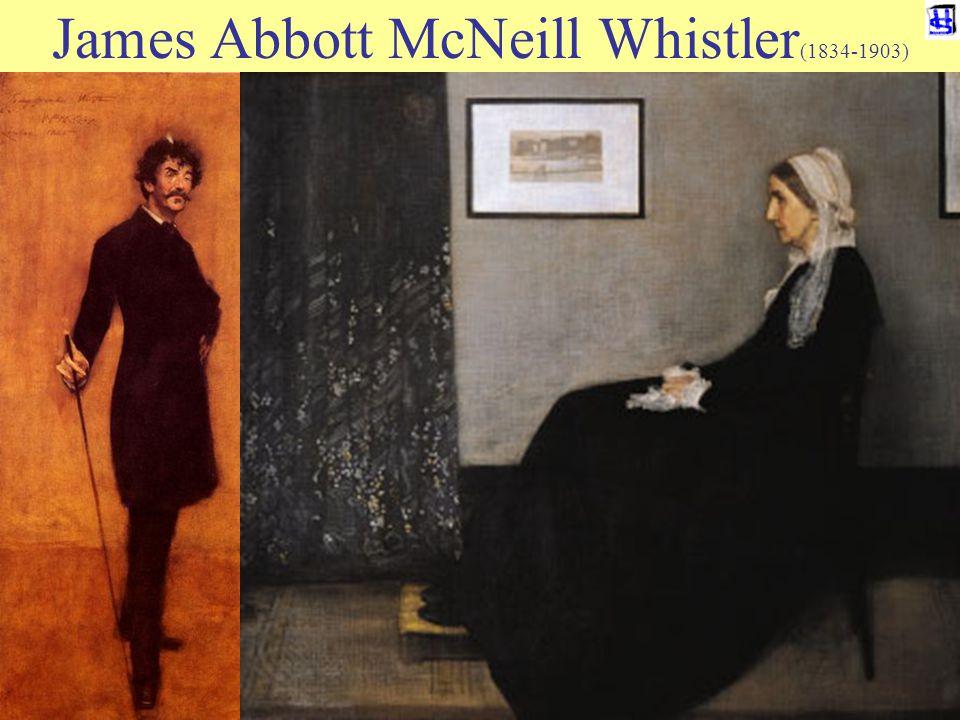 © 2006 JP van de Sande RuG James Abbott McNeill Whistler (1834-1903) EEN MODERNE ODYSSEE 'Whistler' intikken op Google pictures levert eerst vijfentwintig plaatjes van een wintersportdorp in Canada, dan 'Compositie in grijs en zwart' (Whistler's mother), dan weer 21 wintersportplaatjes, dan een zelfportret van de gevierde schilder en dan weer 77 foto s van sneeuw.
