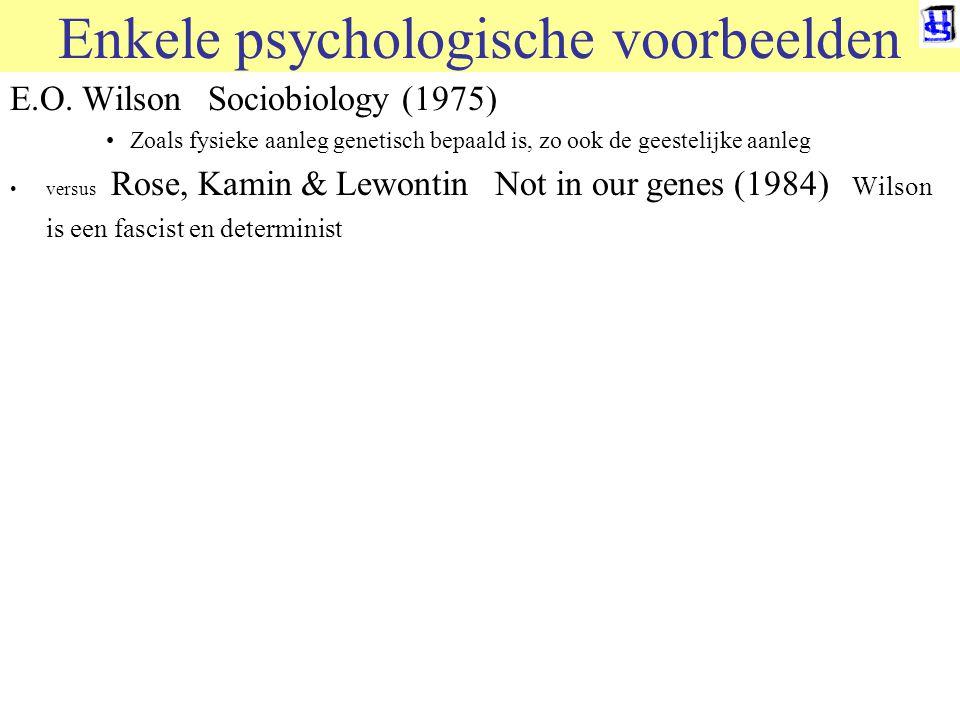 © 2006 JP van de Sande RuG Enkele psychologische voorbeelden E.O.