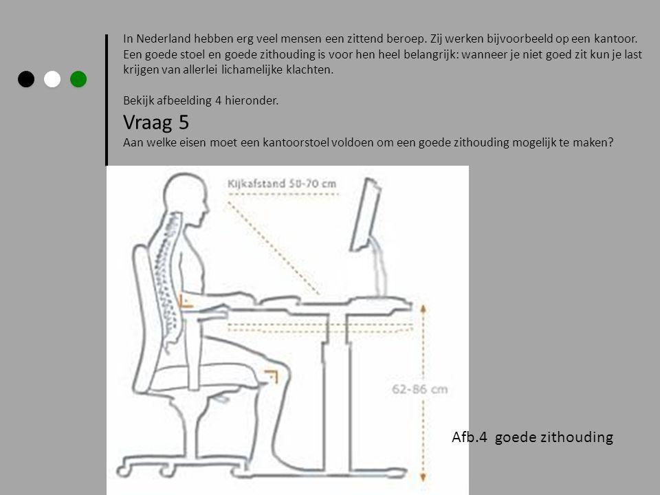 In Nederland hebben erg veel mensen een zittend beroep. Zij werken bijvoorbeeld op een kantoor. Een goede stoel en goede zithouding is voor hen heel b