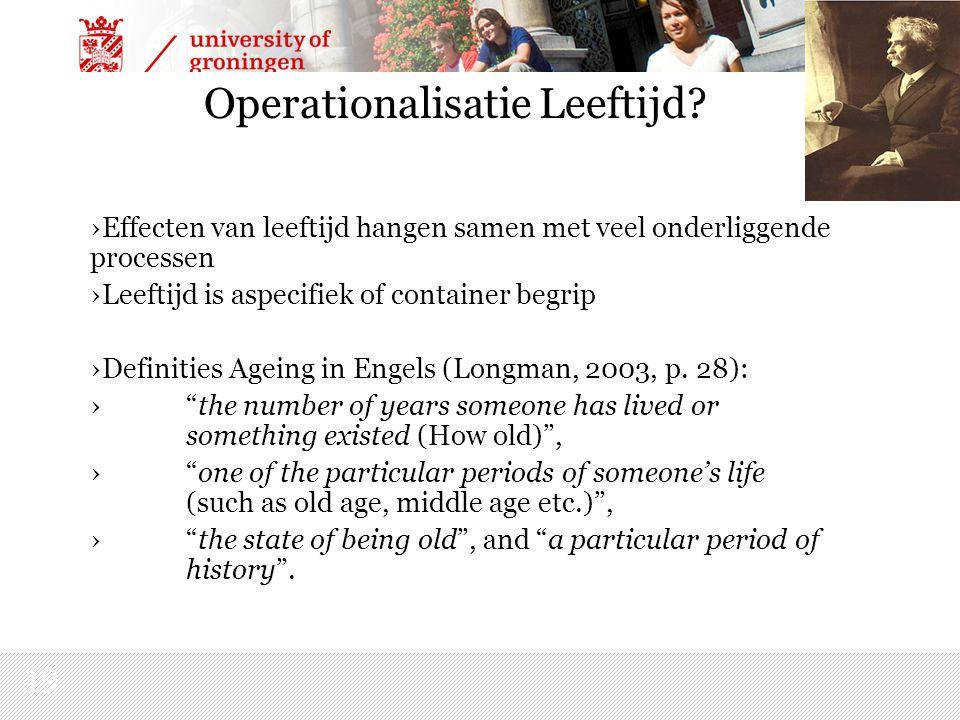 19 Operationalisatie Leeftijd.