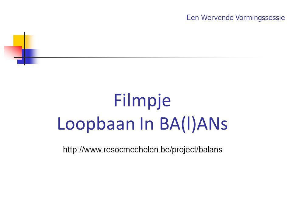 Filmpje Loopbaan In BA(l)ANs http://www.resocmechelen.be/project/balans Een Wervende Vormingssessie