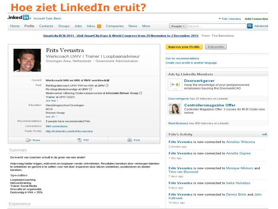 Hoe ziet LinkedIn eruit?
