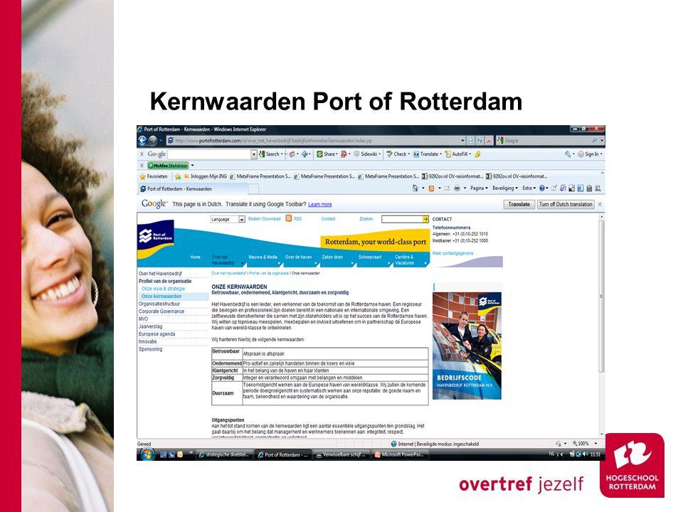 Kernwaarden Port of Rotterdam