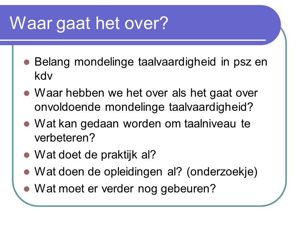 Alarm: taalniveau leidsters onvoldoende Leidsters voorscholen worstelen met taalniveau (Trouw) - Groepsleidsters van voorscholen in Amsterdam hebben moeite met lezen en schrijven.
