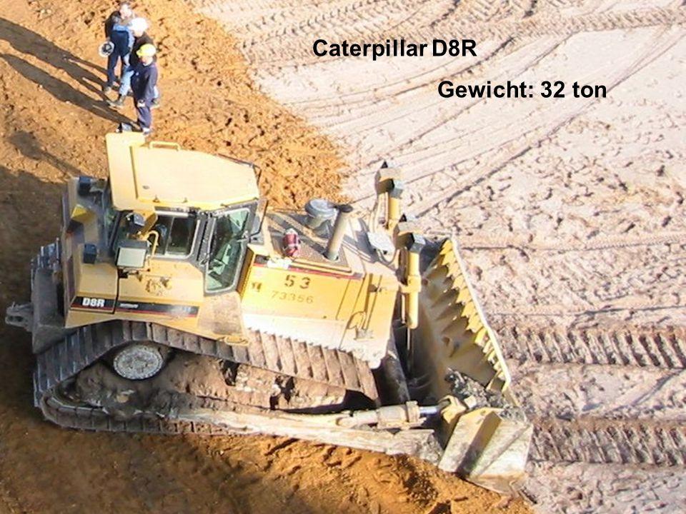 Caterpillar D8R Gewicht: 32 ton