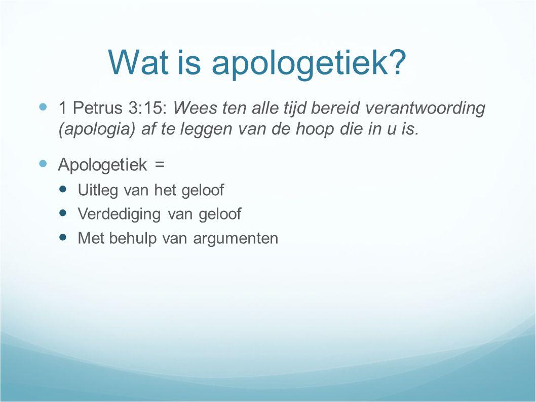 Wat is apologetiek.