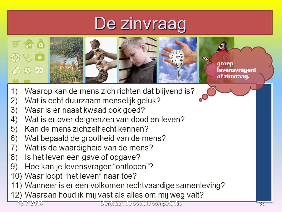 38 1)Waarop kan de mens zich richten dat blijvend is? 2)Wat is echt duurzaam menselijk geluk? 3)Waar is er naast kwaad ook goed? 4)Wat is er over de g