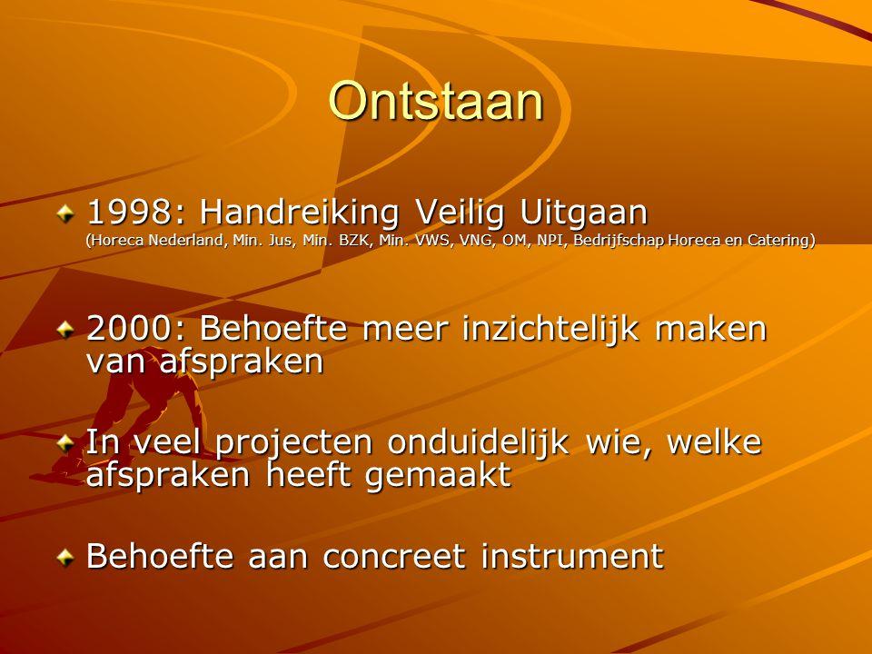 KVU: door de praktijk ontwikkeld 2001: geïnitieerd door het Nationaal Platform Criminaliteitsbeheersing (NPC) Inbreng eigen expertise alle partijen Expertise partijen in pilotsteden Eindhoven, Oss en Tilburg