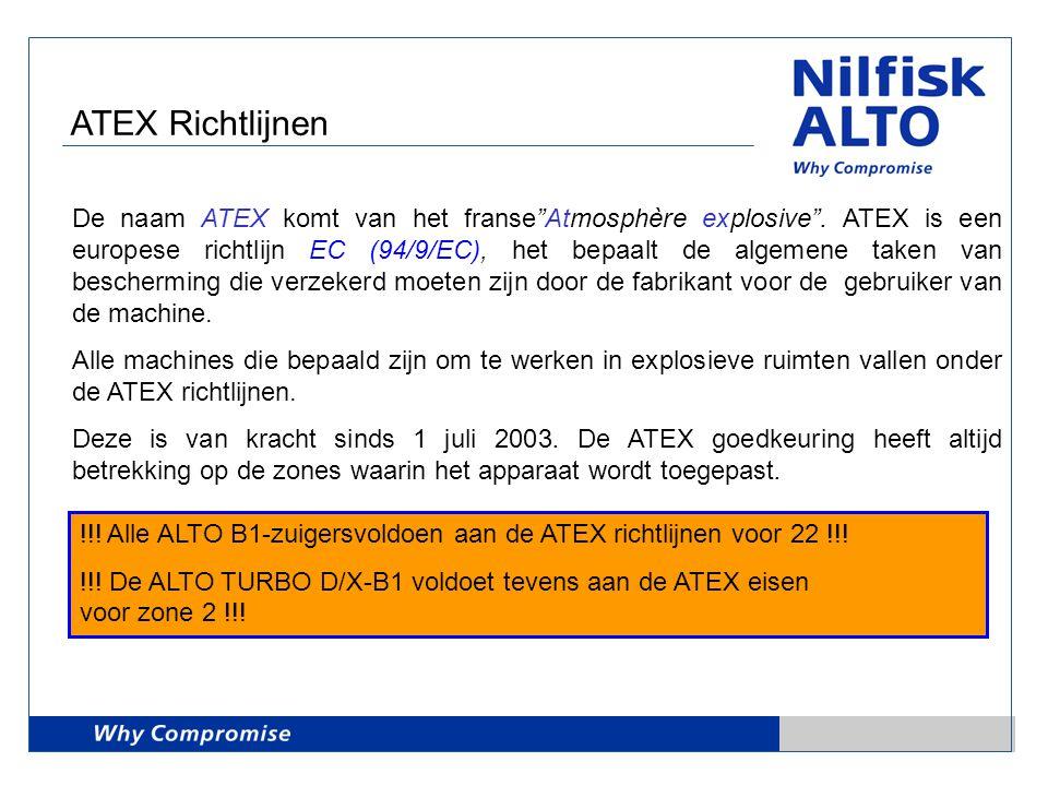 """ATEX Richtlijnen De naam ATEX komt van het franse""""Atmosphère explosive"""". ATEX is een europese richtlijn EC (94/9/EC), het bepaalt de algemene taken va"""