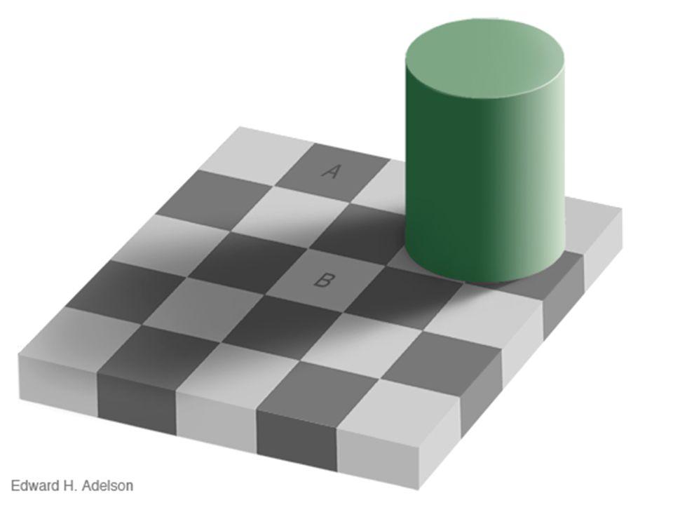 Is de kleur van vak A gelijk aan die van vak B ?