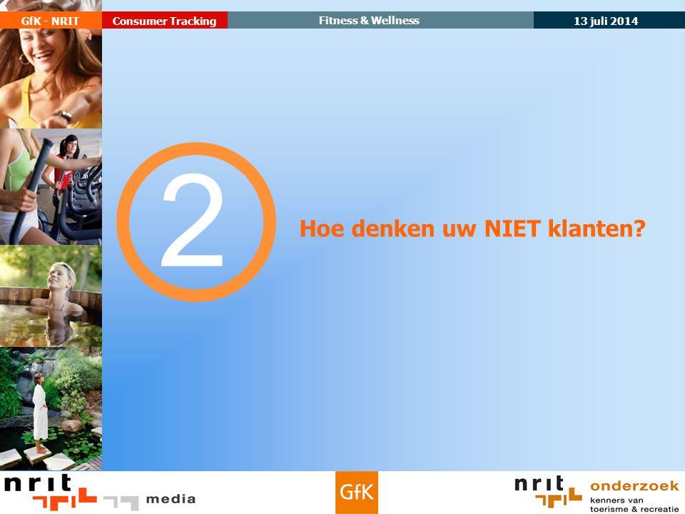 13 juli 2014 GfK - NRIT Fitness & Wellness Consumer Tracking Hoe denken uw NIET klanten? 2