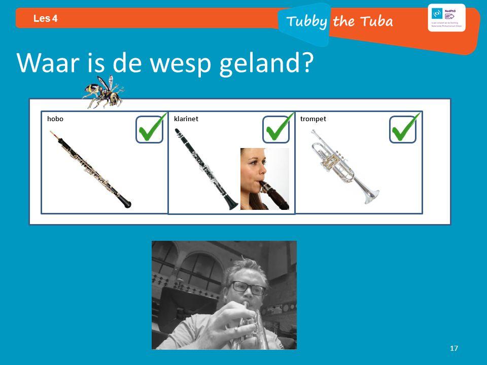 17 Les 4 Waar is de wesp geland? hobo klarinettrompet