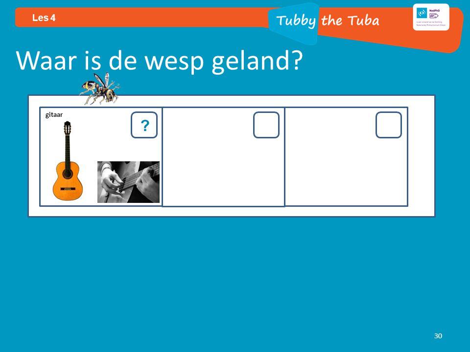 30 Les 4 Waar is de wesp geland? ? gitaar