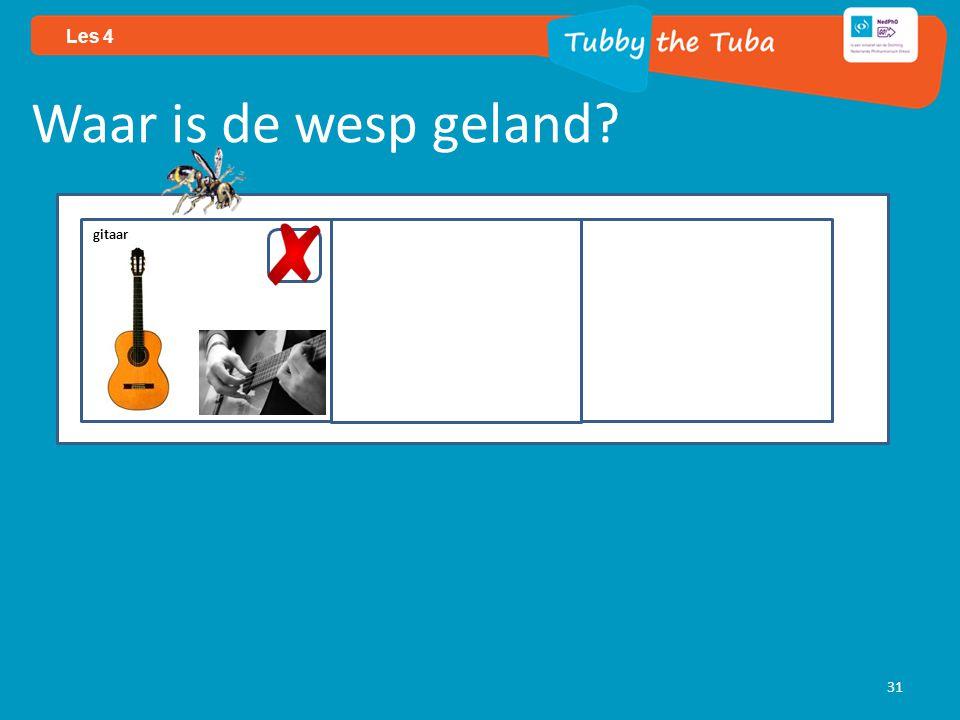 31 Les 4 Waar is de wesp geland? gitaar