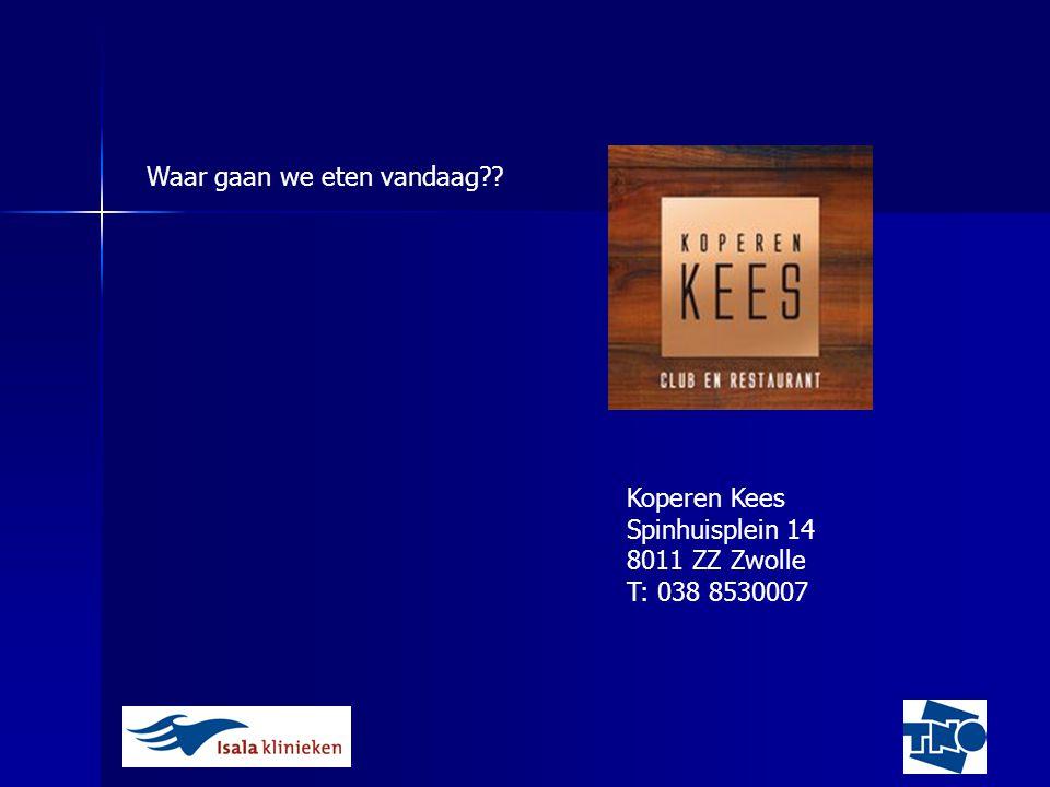 Koperen Kees Spinhuisplein 14 8011 ZZ Zwolle T: 038 8530007
