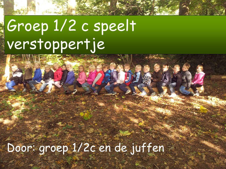 Het is een prachtige dag in de herfst.De kinderen van groep 1/2c spelen verstoppertje.