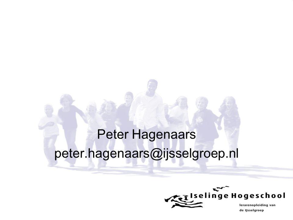 Peter Hagenaars peter.hagenaars@ijsselgroep.nl