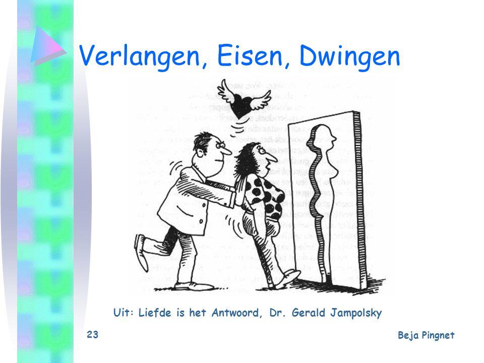 Beja Pingnet 23 Verlangen, Eisen, Dwingen Uit: Liefde is het Antwoord, Dr. Gerald Jampolsky