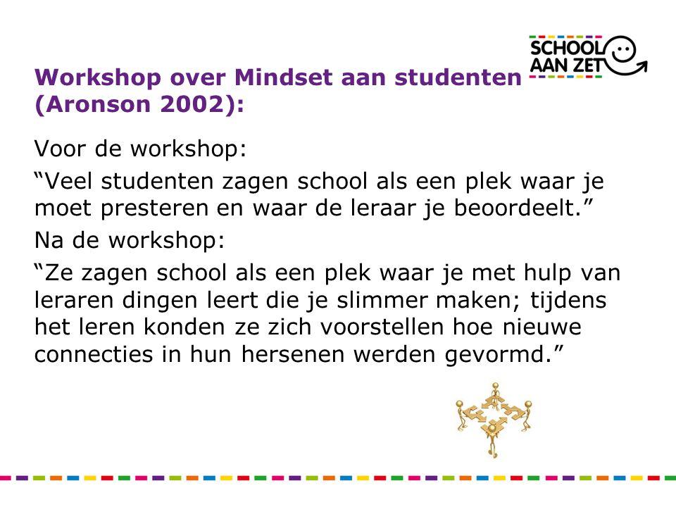 """Voor de workshop: """"Veel studenten zagen school als een plek waar je moet presteren en waar de leraar je beoordeelt."""" Na de workshop: """"Ze zagen school"""