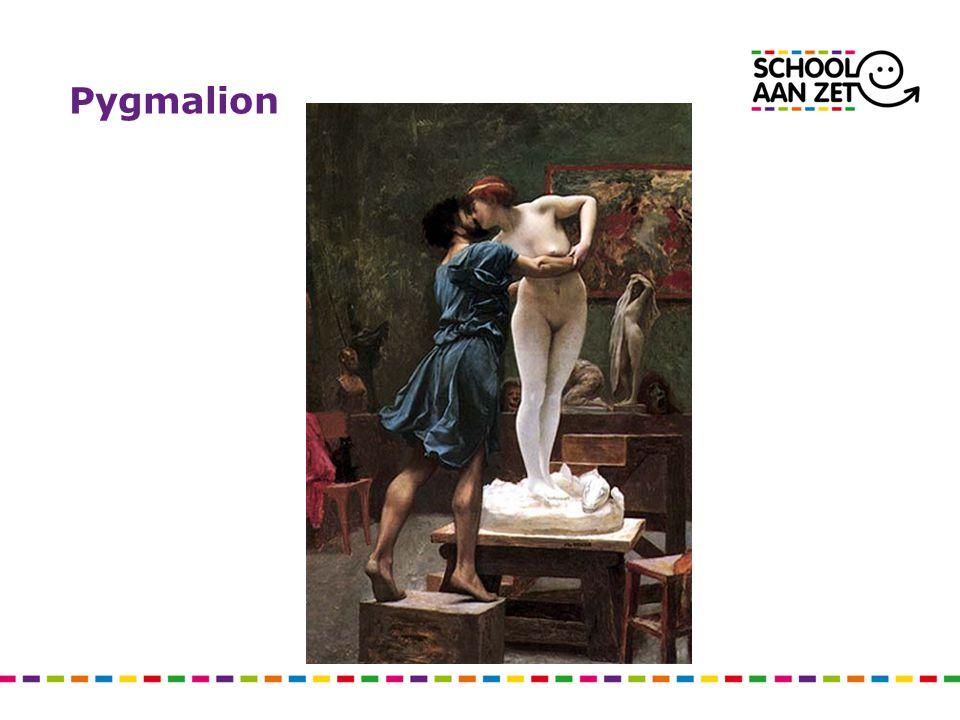 Robert Rosenthal: Pygmalion in the classroom Hoge verwachtingen Geloof in eigen kunnen Concrete feedback Selffulfilling prophecy: Pygmalion èn Galatea
