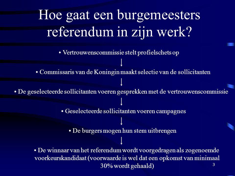 3 Hoe gaat een burgemeesters referendum in zijn werk.